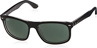 RB4226 Rectangular Sunglasses, Matte Black On Transparent/Green, 56 mm