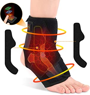 Ankle Warmers,Heated Ankle Brace Wrap Heated Foot Socks Hot Therapy Foot Wrap Compression Support for Achil...