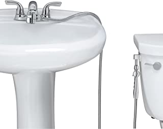 RinseWorks - Patented Aquaus 360 Bidet For Faucet with ABS Polymer Sprayer- Warm Water Bidet – Dual Thumb Pressure Controls - Adjustable Spray Pressure - Extended Spray Reach 4'' to 11''