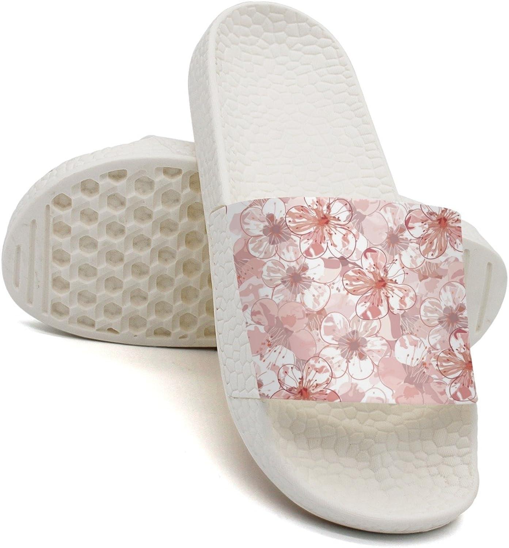 Qiopw rtw Bathroom Shower Non-Slip Sandal Japanese Cherry Blossom Indoor Slipper shoes for Pretty Women