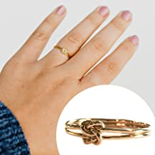 Love Knot Ring 14k Gold Filled - Delicate Double Knots - Cute Thumb Ring Option for Women