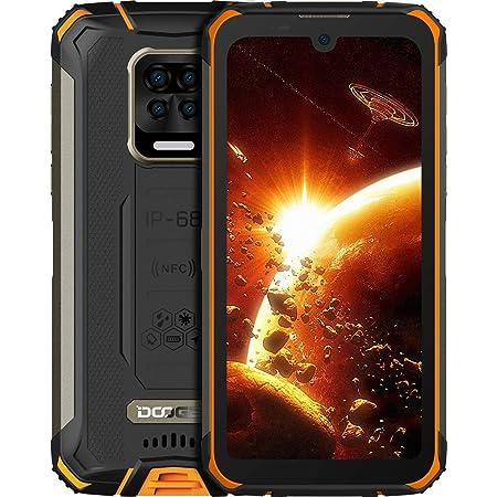 "DOOGEE S59 Pro Móvil, [2021] 10050mAh 4GB RAM+128GB ROM, IP68 IP69K Movil Resistente, Potente Altavoz 2 W, Cámara Cuádruple 16MP+Cámara Frontal 16MP Smartphone Android 10 4G, 5.71"", NFC/GPS, Naranja"