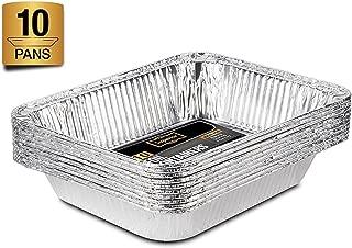 Pack de 10 Life Story Bandejas de Aluminio Desechables con Papel de Horno 39.5 x 33.5 x 5 cm
