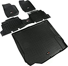 Rugged Ridge 12988.04 Black Front, Rear and Cargo Floor Liner