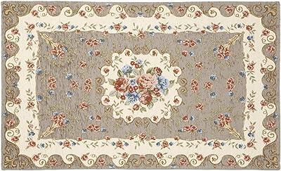 ロイヤルアーデン 玄関マット グレー 65×110cm イタリア製ゴブラン織りマット 83038