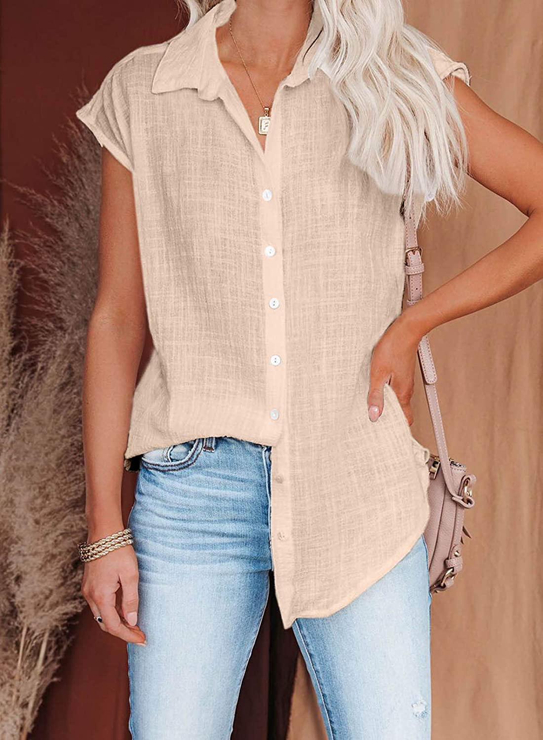 Dokotoo Blouses for Women Short Sleeve Shirts Business Short Sleeve Casual Chiffon Tops