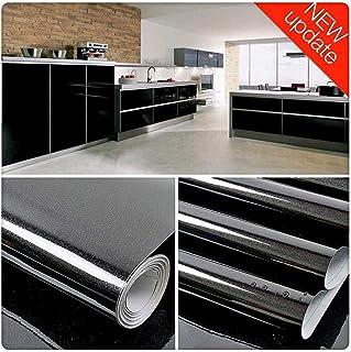 Vinilo Pegatina Decorativo para Muebles Negro 30cmX3m