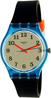 Swatch Originals Back to School White Dial Silicone Strap Unisex Watch GS149