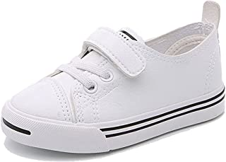 Henraly Kids Classic Color Low Top Hook-and-Loop Pleather Casual Sneakers (Toddler/Little Kid/Big Kid)