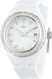 Adidas Women's ADH2080 White Midsize Cambridge Analog Stones Watch