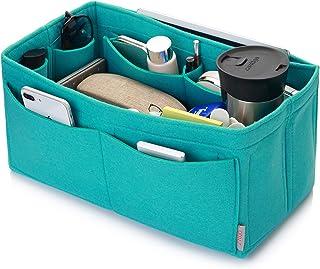 Felt Purse Organizer, Multi Pocket Bag in Bag Organizer For Tote & Handbag Shaper, Speedy 30, Speedy 35 and Speedy 40, Medium, Large, Extra Large (X-large, Tiffany Blue)