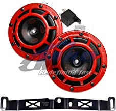 HELLA Supertone 12V High / Low Tone Twin Horn Kit with Torque Solution Bracket for 2015+ Subaru WRX / STI (Red)