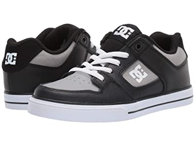 DC Kids Pure Elastic (Little Kid/Big Kid) (Black/Grey) Boys Shoes