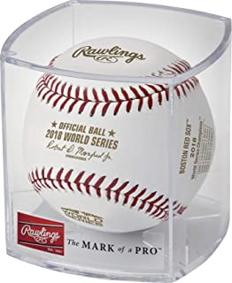Rawlings MLB Boston Red Sox 2018 World Series Champion Ball and Case, White and Gold, Official Size