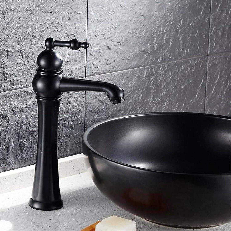 Wasserhahn Küche Waschbecken Badezimmer Wasserhahn Messing Einhebel Antik Schwarz Waschtischarmatur für Bad Küchenarmatur
