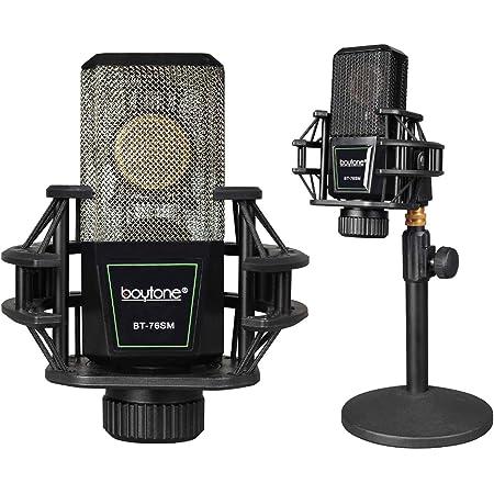 Boytone BT-76SM Plug & Play Podcast Cardioid Condenser Studio Microphone Recording, 34mm Large Diaphragm