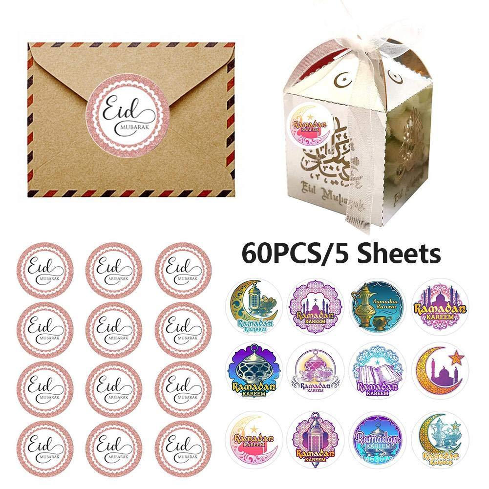 2020 Newest Eid Mubarak Self Adhesive Labels 60pcs Ramadan Kareem Decor Eid Mubarak Stickers Islamic Muslim Party Decor Suitable For Eid Al Fitr Decoration Wedding Decoration Labels Memos Buy Online In Maldives At Maldives Desertcart Com Productid