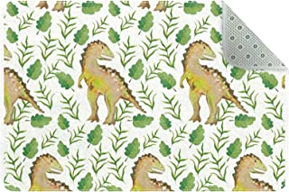 Doormat Custom Indoor Welcome Door Mat, Dinosaur Leaves Pattern Home Decorative Entry Rug Garden/Kitchen/Bedroom Mat Non-S...