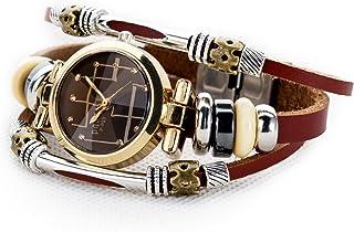 Women's Lady's Girl's Fashion Wrist Bracelet Watch with Genuine Leather Band Gift