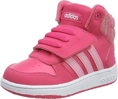 adidas Hoops Mid 2.0 I, Chaussons Bas Garçon Unisex Kinder, Rose ...