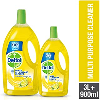 Dettol Lemon Healthy Home All Purpose Cleaner, 3L + 900ml