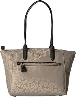 Nylon Kelsey Medium Top Zip Tote