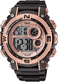 Q&Q Men's Grey Dial Silicone Band Watch - M133J004Y