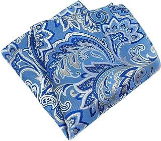 MENDENG Men's Paisley Pocket Square Formal Party Handkerchief