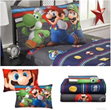 Super Mario Brothers Kids Twin Bedding Sheet Set