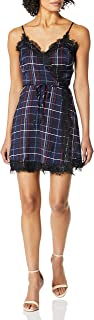 cupcakes and cashmere womens Ivan painted plaid printed wrap dress w/lace trim Dress