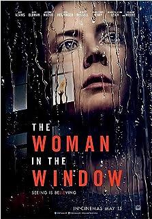 Kvinnan i fönstret (2021) Filmomslag PosterCanvastryck VäggkonstDekoration Bild ModernRumsdekor -20x30 tum Ingen ram...
