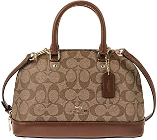 Coach F27583 Mini Sierra Satchel Bag for Women - Leather, Beige