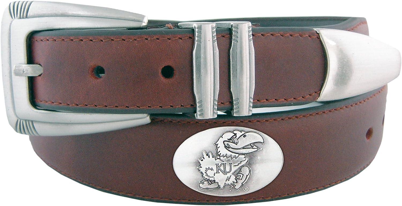 NCAA Kansas Jayhawks Zep-Pro Leather Concho Belt