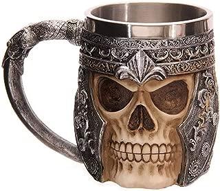 stainless steel 3d skull mug
