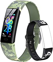 GOGUM Slim Fitness Tracker with Replacement Band for Kids Girls Boys Teens Age 5-16,Heart Rate Monitor,Activity Tracker,Alarm Clock,Pedometer,Sleep Monitor,Step Tracker Counter Watch