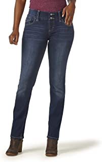 Women's Pull-On Waist Smoother Straight-Leg Jean