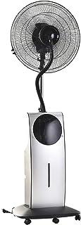 HOMCOM Ventilador Nebulizador Multidireccional Apto para Agua o Aceites Aromáticos con Programación de Apagado Automático Ф44.5x135cm