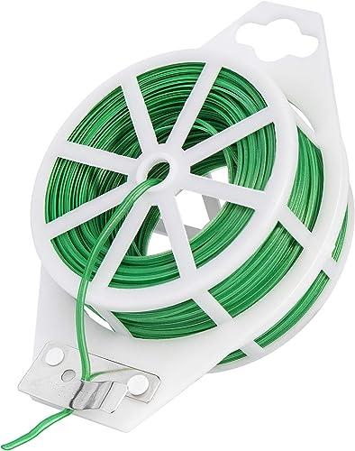 2021 VIVOSUN 164 Feet Twist high quality Tie Roll Spool Dispenser w/Cutter Secure Garden Plant Multi-Function popular Cable Snack Tie sale