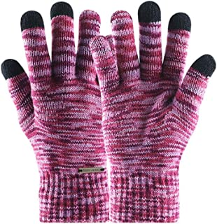 Outdoor Windproof Knitted Gloves for Men Women/Winter Keep Warm Self-Heating Motorcycle Cycling Ski Mittens/Three-Finger Touch Screen