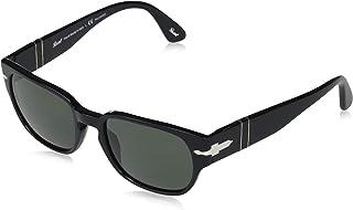 بيرسول PO 3245S نظارة شمسية أسود / رمادي 52/19/145 للرجال