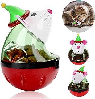 Legendog Cat Christmas Toy, Santa Claus Tumbler Mouse Cat Feeder Toy, Interactive Cat Toys, Cat Puzzle Toy, Christmas Pet ...