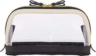 Creative Brands Hold Everything Travel Pouch, 11 x 7, Bow Black Ivory and Clear