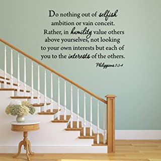 Dozili Do Nothing Out of Selfish Ambition Quote Wall Decal Philippians 2:3-4 -1592 16