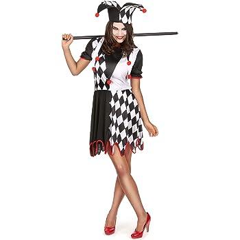 Disfraz de bufón para mujer Única: Amazon.es: Juguetes y juegos