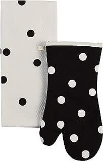Kate Spade Polka Dot Kitchen Towel and Oven Mitt Set, Multi-Color