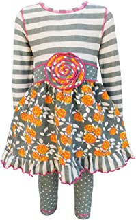 Big Girls' Boutique Holiday Dress and Leggings, Sizes from 12 Months to 13 Years