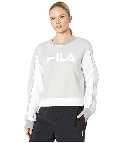 Fila Nuria Color Block Sweatshirt (Quiet Grey/White/Lead/Silver) Women