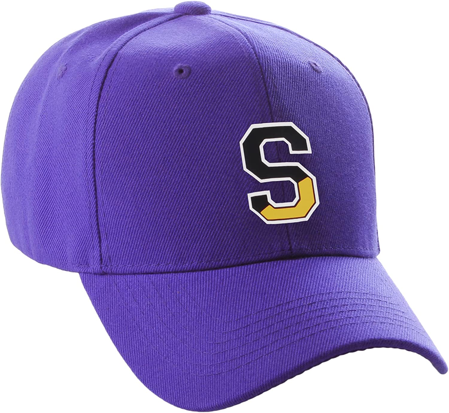 Daxton Two Tone Initial Letters Numbers Structured Baseball Hat