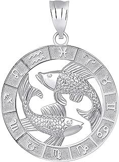 pisces pendant silver