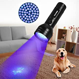 Pet Urine Detector Light Handheld UV Black Light Flashlight Portable Dog Cat Urine Carpet Detector Super Bright UV Light for Pet Stain, Minerals, Automotive Leak Detection